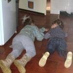 Mirthe en Shanna aan het spelen